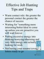 effective job hunting tips and traps