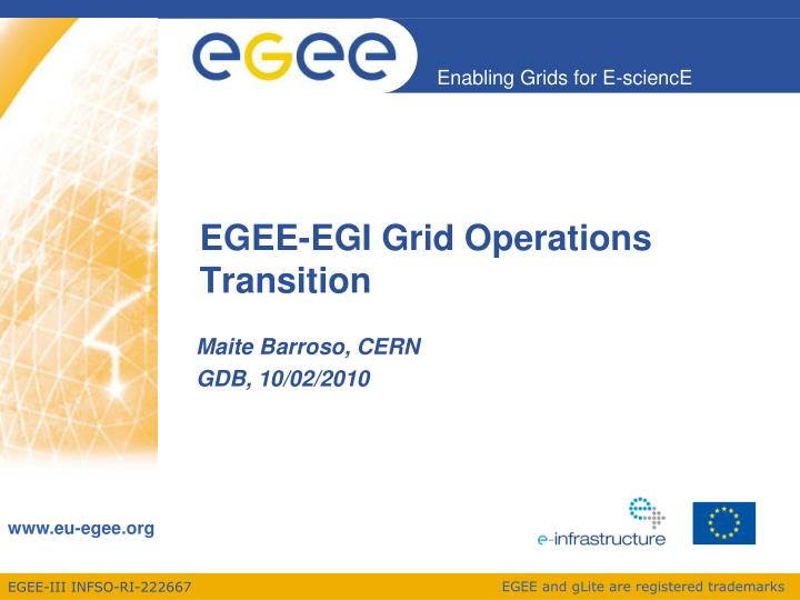 egee egi grid operations transition