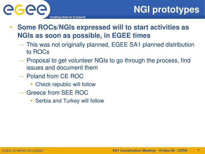 NGI prototypes