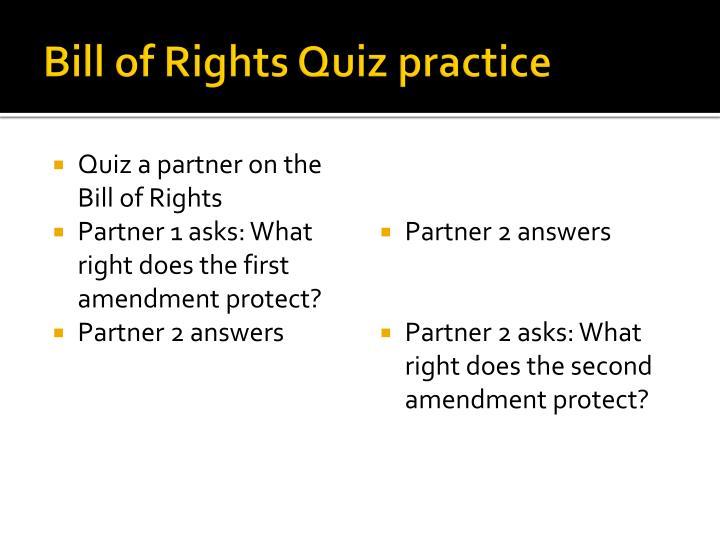Bill of Rights Quiz practice