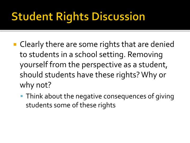 Student Rights Discussion