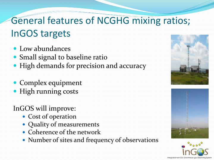 General features of NCGHG