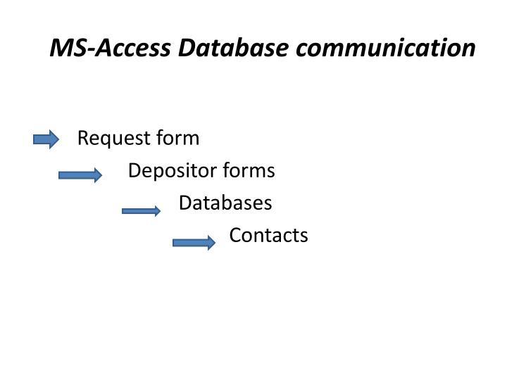 MS-Access Database communication