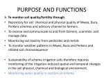 purpose and functions