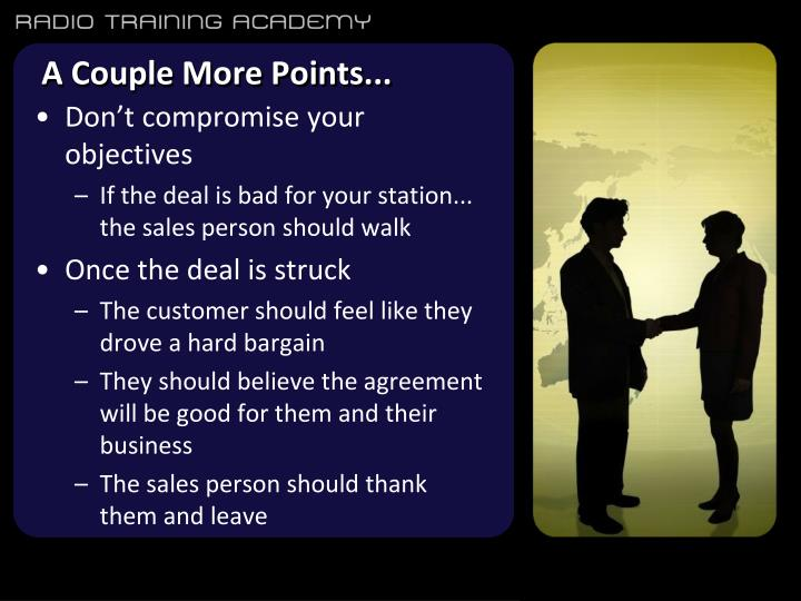 A Couple More Points...