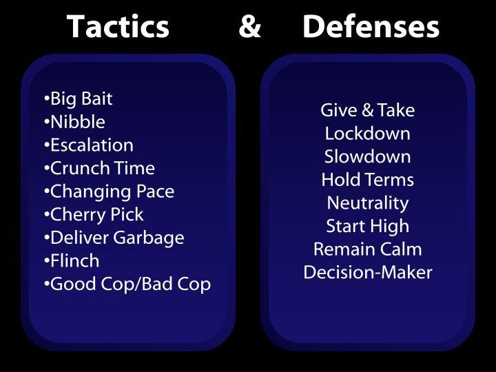 Tactics          &      Defenses