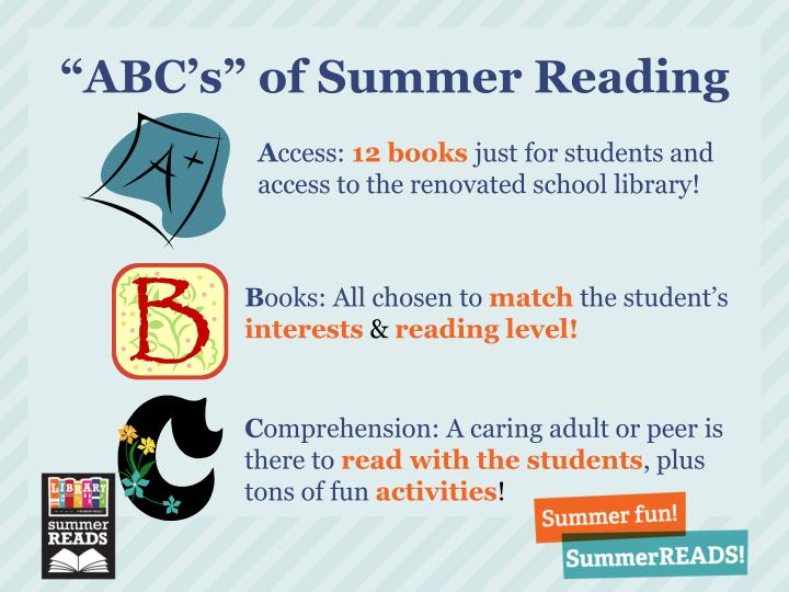 """ABC's"" of Summer Reading"