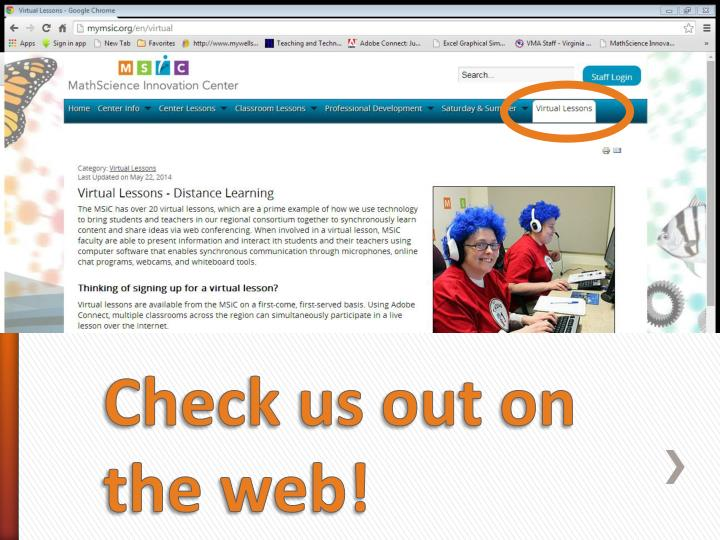 Check us out on the web!