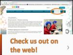 check us out on the web