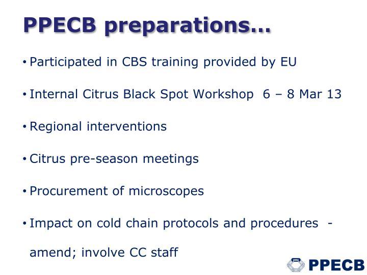 PPECB preparations