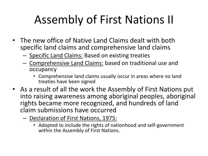 Assembly of First Nations II