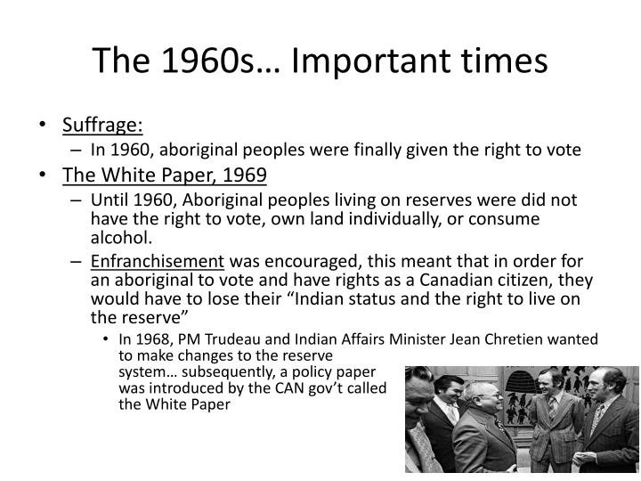 The 1960s… Important times