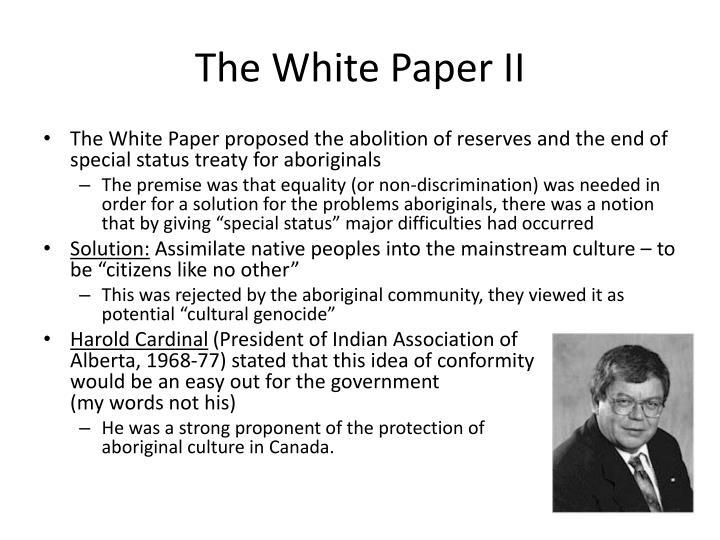 The White Paper II