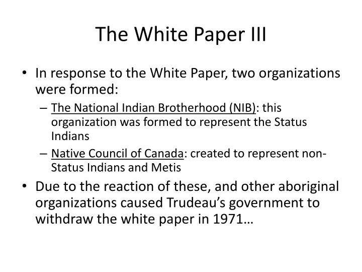 The White Paper III