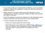 cac application update for ffm and spm states only