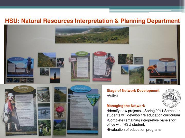 HSU: Natural Resources Interpretation & Planning Department