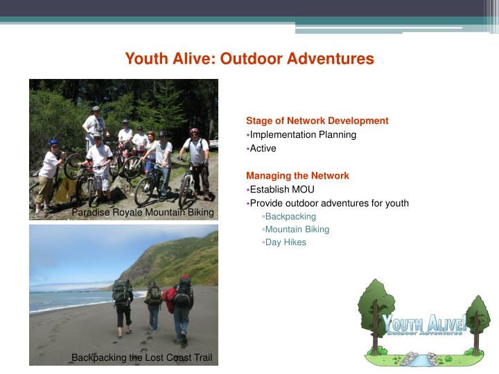 Youth Alive: Outdoor Adventures
