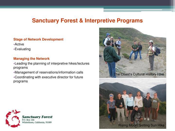 Sanctuary Forest & Interpretive Programs