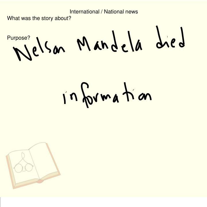 International / National news
