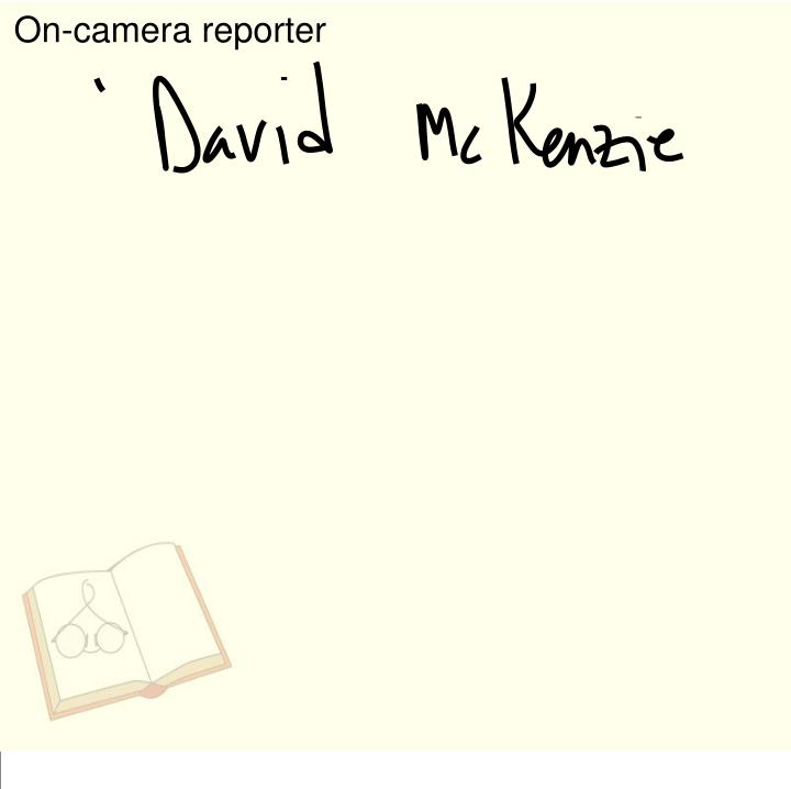 On-camera reporter