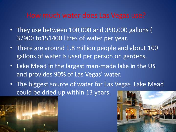 How much water does Las Vegas use?