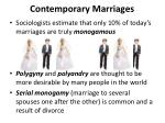 contemporary marriages