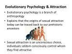 evolutionary psychology attraction