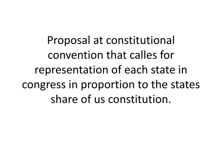 Proposal at constitutional convention that