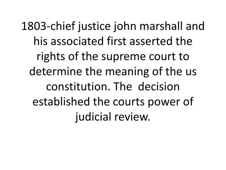 1803-chief justice john