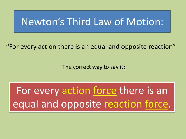 """""""For every action there is an equal and opposite reaction"""""""