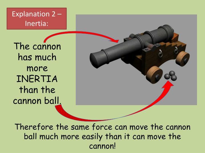 Explanation 2 – Inertia: