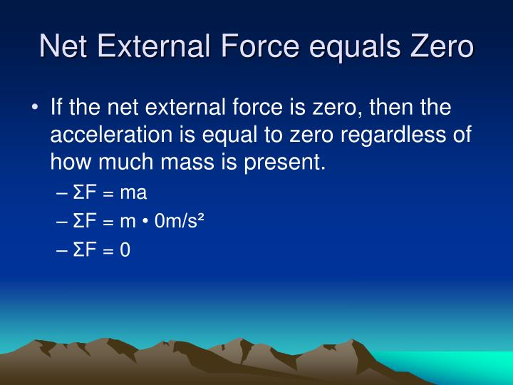 Net External Force equals Zero