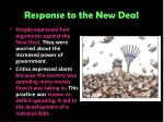 response to the new deal8