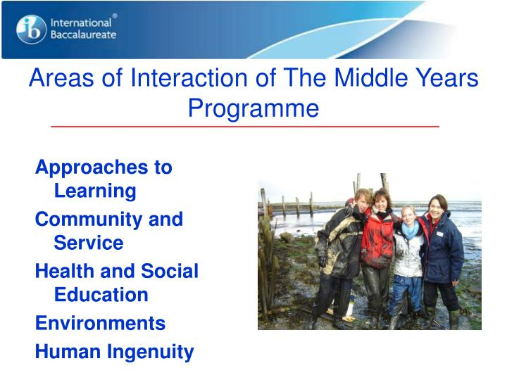 Areas of Interaction of The Middle Years Programme