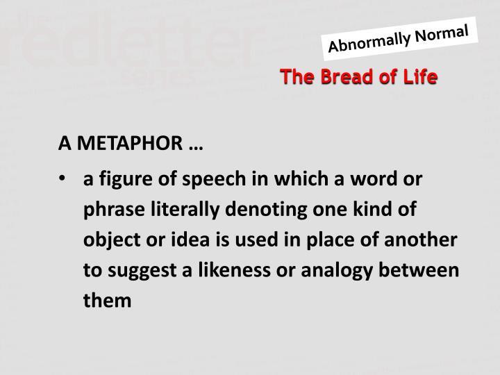 A METAPHOR …