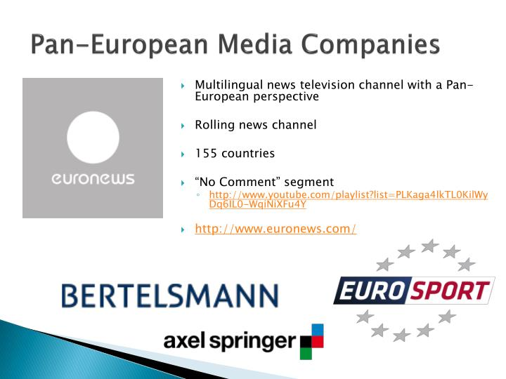 Pan-European Media Companies