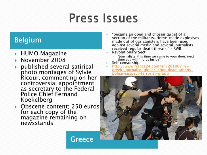 Press Issues