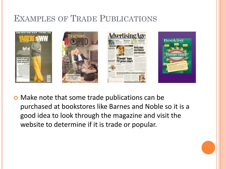 Examples of Trade Publications