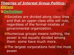 theories of interest group politics elitism