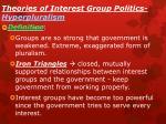 theories of interest group politics hyperpluralism