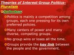 theories of interest group politics pluralism