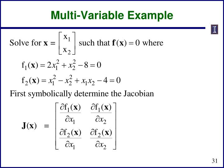Multi-Variable Example