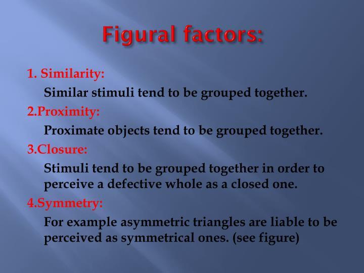 Figural factors:
