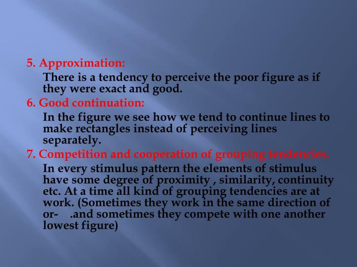5. Approximation: