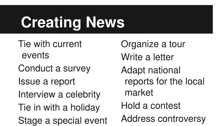 Creating News