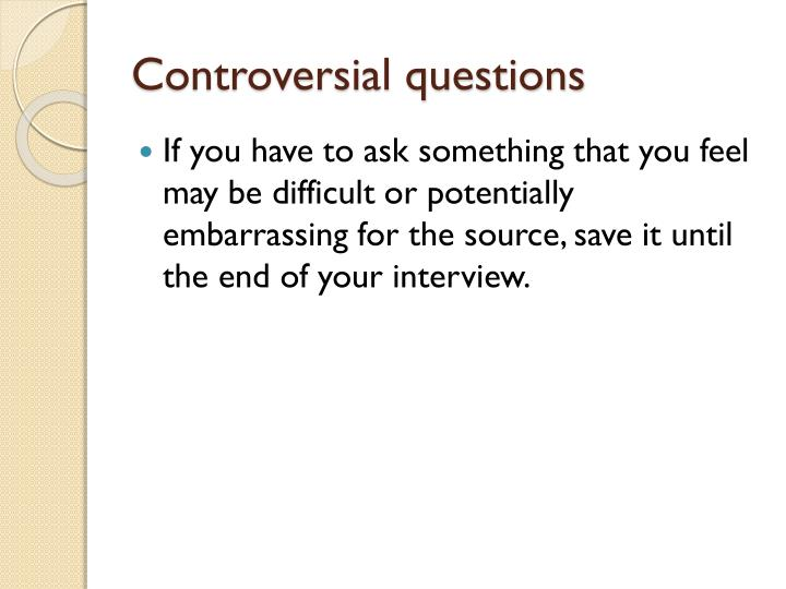 Controversial questions