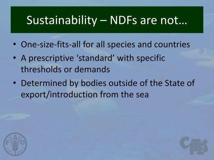 Sustainability –