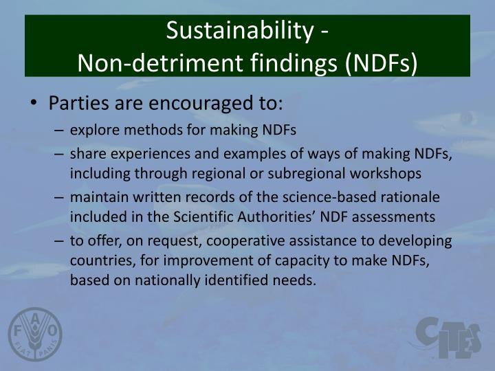 Sustainability -