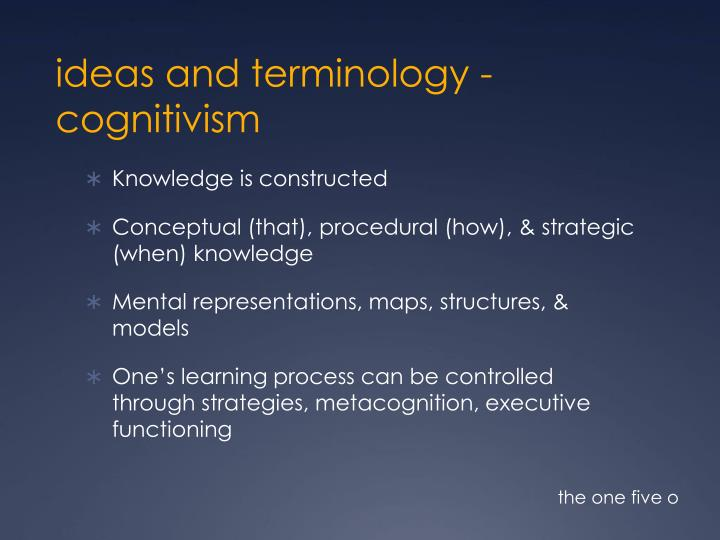 ideas and terminology -