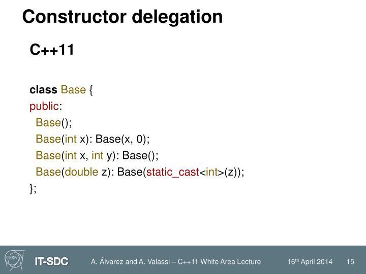 Constructor delegation